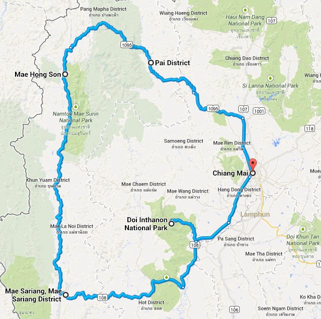 mae-hong-son-loop-route-map